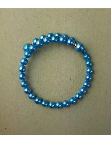 Kék gyöngy karkötő